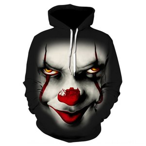 New red nose clown 3D printing casual New red nose clown 3D Hoodie Digital digital printing hoodie casual
