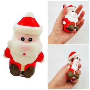 Рождество Squishy Рука Мини Размер игрушки Санта-Клаус Дерево Elk снеговика Смешные игрушки Рождество Kid подарков ароматическая Slow Восходящая Мягкая игрушка новизны DH0347