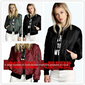 2020 new solid color short stand collar small coat casual jacket Coat zipper Jacket zipper