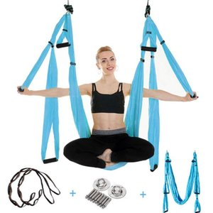 Yoga supplies aerial fixed buckle yoga swing set hammock sling kit extension belt other accessories strap hammock
