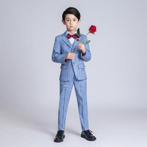 YuanLu Kids Suit For Boy Blazer Shirt Vest Pants Formal Suit For Wedding Party Costume British Style Gentleman Clothes e5Z2#