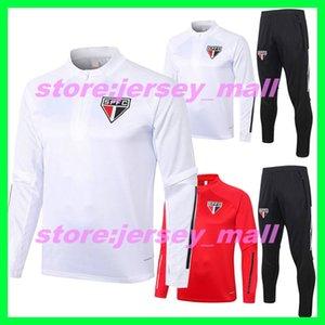 2020 2021 Nouvelle saison Sao Paulo Brasi sportswear Veste Zip Homme 20 21 adultes manches longues Survêtement Survetement Survêtements Avec Pantalon