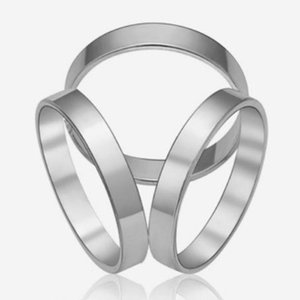 Daily Three-Ring Wedding Smooth Fashion Shawl Jewelry Gift Party Alloy Charming Scarf Buckle