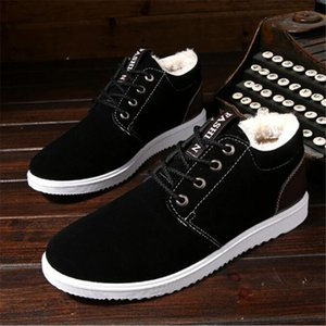 new snow boots men's casual warm comfortable low to help design cotton men sneakers shoes male comfortable winter boots