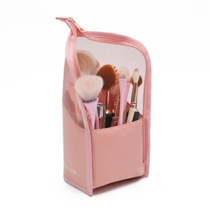 Cosmetic Storage Bag Makeup Brush Bucket Storage Tube Net Red Mask Lipstick Eyebrow Pencil Portable Storage Bag