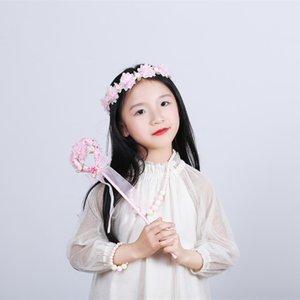 Korean new Veil accessories children's Garland veil Princess Angel stick girl's accessories Garland necklace set all-match