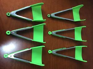 Inteligente Tongs cozinha Espátula Tongs Non-stick resistente ao calor Quadro Dishwasher Safe Ajudante Cozinha Cozinha Tongs Ferramentas 2 Pack Verde Vermelho 777 26