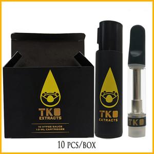 Neueste TKO EXTRAKTEN dampfen leer Keramik Küvettenglases Atomizer TKO LOGO Patronen No Leak 1,0 ml Dank vapes Karren
