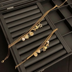 D family 20-year double-layer necklace female di family Bee star Clover pearl bracelet