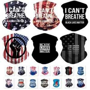 DHL Magic I Cant Breathe Face Mask Windproof Scarf American Flag Print Face Cover Outdoor Cycling Scarves Multifunction Masks Bandana