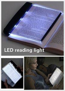 Cuidado de los ojos de luz LED Libro Clip-On noche se enciende la lámpara de lectura portátil placa plana Panel de viajes Led lámpara de escritorio para el hogar dormitorio interior
