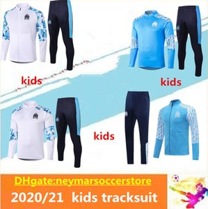 2020 2021 kids Olympique de Marseille jacket soccer training suit 2020 21 kids THAUVIN OM Marseille maillot de Football tracksuit