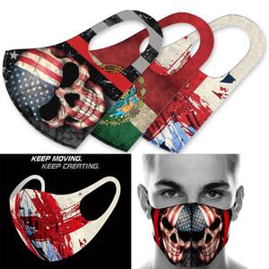 gioco sopra americano testa di seta bandiera ghiaccio intorno alla stampa maschera gioco maschera antipolvere copertura di Halloween cranio maschere cosplay progettista maschera facciale gioco
