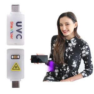Portable LED UV Disinfection Lamp UVC Light Germicidal uv sterilizer Mask Home Travel Sterilization Lamp USB Mobile Phone Ultraviolet Lamp
