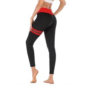 Nuovo coscia doppio colore di contrasto anello elastico pantaloni di yoga di yoga stretti pantaloni leggings L2060