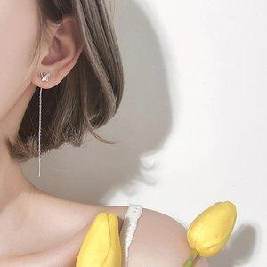 Slim-Looking Earrings Long Elegant Butterfly Earrings Korean-Style Simple Earrings Super Fairy Tassel Fashion