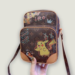 Classic cartoon linkage designer bags women handbags purses shoulder diagonal leather bag hardcover come with box