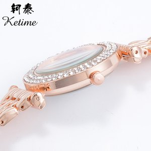 Cross-Border Hot Fashion Business Suit Womens Watch European-Style Diamond Set Butterfly Quartz Watch Female Factory Wholesale