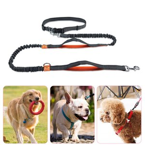 Reflect light flex dog Leashes running waist belt multifunction walk the dog leashes chain Pet Dog Supplies will and sandy new