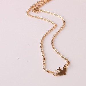 Ahmed Bijoux or simple Oiseaux Collier plaqué Chaînes clavicules Charm Femmes Bijoux Fashion Colar Maxi collier pour les femmes Hot