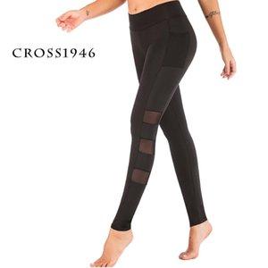 CROSS1946 malha leggings executando aptidão calças respirável ioga Seamless yoga fitness Calças Push Up Mulheres Gym Sportswear