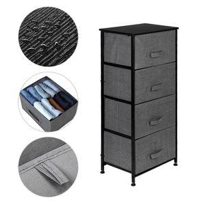 Пользовательская Спальня Тумба 4-Tier Dresser Tower Fabric ящик Организаторы С 4 Easy Прицепными Тумбами С Столешницей для гостиной