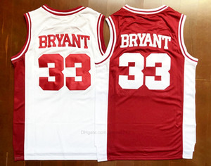 ABD'den Gemi # Aşağı Merion 33 Bryant Jersey Koleji Erkekler Lise Basketbol Tüm Dikişli Boyut S-3XL En Kaliteli