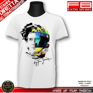 T-Shirt AYRTON SENNA Brasil Legend Driver Pilota Fashion Art Moda 2020 Newest Men'S Funny Streetwear Tees T Shirts