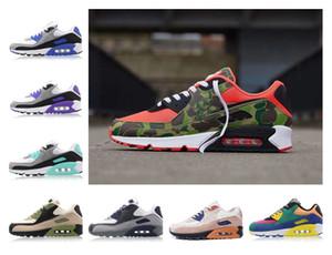 Scarpe Uomo Sneakers Classic 90 Reverse anatra mimetica uomini e le donne Scarpe Sport Trainer Cuscino 90 Superficie scarpe traspiranti sport Corsa
