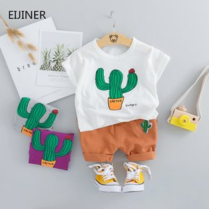 Cactus Baby Boys Clothing 2020 New Children Summer Boys Clothes Cartoon Kids Boy Clothing Set T-shit+Pants Cotton