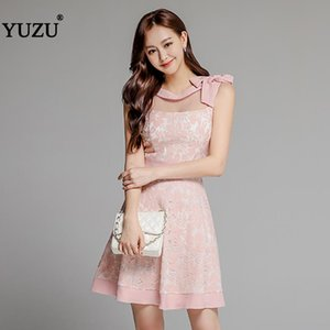 Wedding Party Dresses For Women Summer Office A-line Solid Sleeveless Bow O Neck Gray Pink Ruffles Birthday Dress