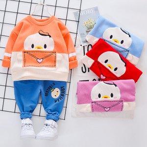 Boys Girls Spring Autumn Children Cartoon 1-5Y clothing Fashion Cotton Tops+pants Clothes Set 2pcs