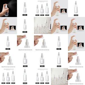 Empty Spritz Bottles 30Ml 50Ml 100Ml Clear Plastic Mist Spray Bottle Portable Refillable Achohol Sprayer Bottle Cheap 21500Vd KIqfz