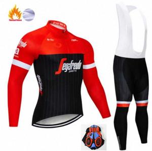 2020 2020 Espanha Homens Winter Thermal do velo Jerseys manga comprida Set Ciclismo Jerseys de Formação Bicycle Race apertado Ciclismo Roupa vV3J #