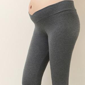 임산부 출산 바지 레깅스 플러스 사이즈 고품질의 가을 출산 레깅스 낮은 캐주얼 허리 임신 배꼽 바지