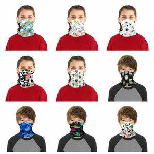 Children Face Mask Kids Washable Reusable Protective Mask Outdoor Sport Cycling Magic Scarf Bandana Headband Turban Bandanas ZZA2472 70Pcs