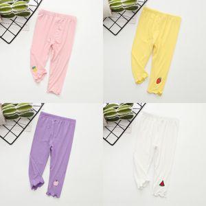 frutas Sv6RE 2020 novo verão das crianças cortadas leggings para crianças e crianças leggings coloridas confortáveis para meninas calças apertadas Fruit t