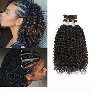 Brazilian Curly Hair Bulk for Braiding Jerry Curl No Weft 3 Bundles Deal Indian Human Hair Extension