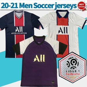 20-21 Paris 7. MBAPPE ev Futbol Formalar uzakta Ligue 1 10. NEYMAR JR # 18 Icardi Erkekler Paris Futbol Gömlek özelleştirilmiş Futbol forması ile 2020