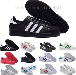 Free Shipping Superstar White Black Pink Blue Gold Superstars 80s Pride Sneakers Super Star Women Men Sport Casual Shoes EU SZ36-44 TTP09