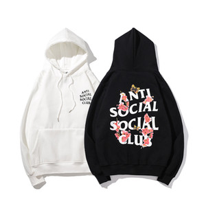 2020ss высокого качества модельера одежды алфавит печать ASSC анти социального клуба мужчин и женщины Пуловер Hoodie свитер