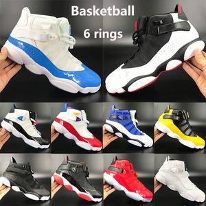 Neue 6 6s Ringe Jumpman Basketballschuhe UNC Mens Momente gezüchtet Turnhalle rot Taxi Glatteis Konsonanz Sport Männer Frauen Turnschuhe definieren
