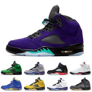 Top qualité Jumpman 5 Autre Grape mens chaussures de basket-ball SE Oregon 5 5s Autre Bel Air Feu de sport rouge formateurs mens Retro