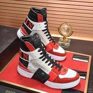 Phantom Kick $Hi -Top Crystal Sneakers Men &#039 ;S Shoes Outdoor Walking Footwears Luxury Lace -Up Sports Casual Men Boots Scarpe Sportive