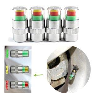 4шт / комплект шин контроля давления Манометр Крышка датчика Индикатор предупреждения Мониторинг штока клапана Cap Tools Kit