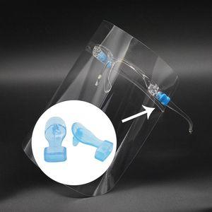 2020 venta caliente claro marco de protección Pantalla facial Visor reutilizable gafas Cara visera transparente de la capa anti-niebla ojos protege de salpicaduras de aceite
