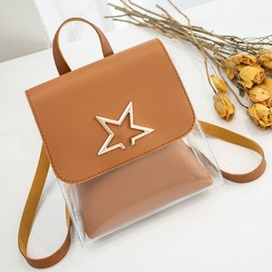 Women's autumn pvc jelly small mobile phone bag backpack 2020 Korean style star mother bucket type change mobile phone bag