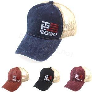 Donald Trump 2020 Baseball Cap Patchwork lavadas ao ar livre fazem chapéu América Great Again EUA Presidente malha ostenta snapbacks FFA4250