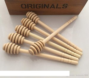Honey Stick Honey Dippers kitchen accessories 8cm Mini Wooden Party Supply Spoon Stick Honey Jar Stick DH0172