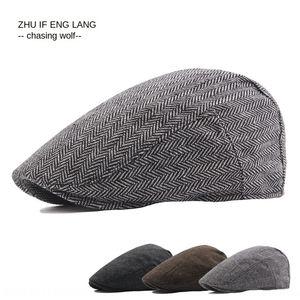Men's son-of-law nei British wool blended beret casual beret female female hat short eaves cap hot-selling women's hat